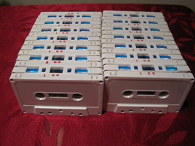 30 White 62 Minute Blank Audio Cassette Tapes, NEW