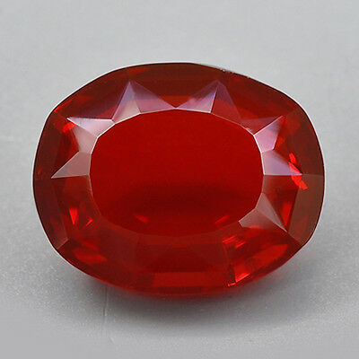 1.69Cts Natural Mexican Fire Opal Orange Red Color Gemstone Oval
