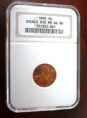 1995 US Copper 1 Cent Double Die NGC MS 66 RD