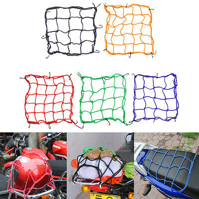 Motorcycle helmet net bag pocket street bike fuel tank mesh elastic rope cs-097A