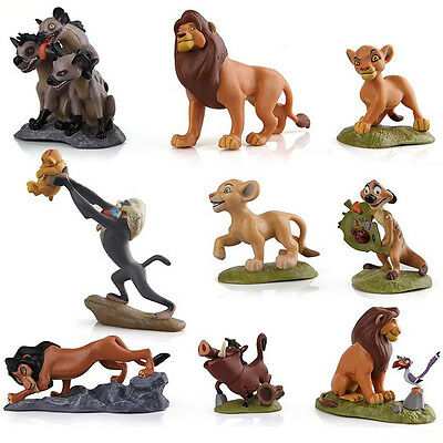 9pcs The Lion King Figures Collection Movie Simba Toy Doll Set Cake Topper GIFT