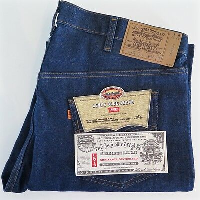 Vintage Original Deadstock Levis 505 Straight Jeans 1981 W42 L32 Made In Usa Nos