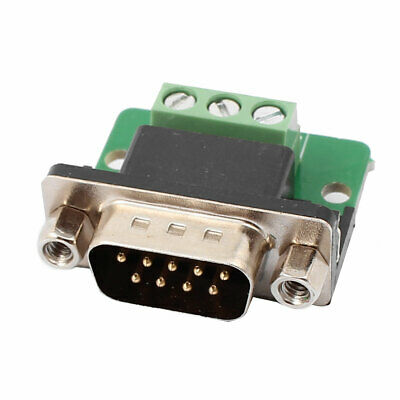DB9 RS232 SERIAL Male Adapter Plate 3 Position Terminal Connector Signal  Module