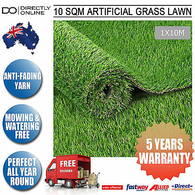 Plastic Green Fake Lawn Synthetic Grass Artificial Turf 10 SQM Lush 20mm Olive