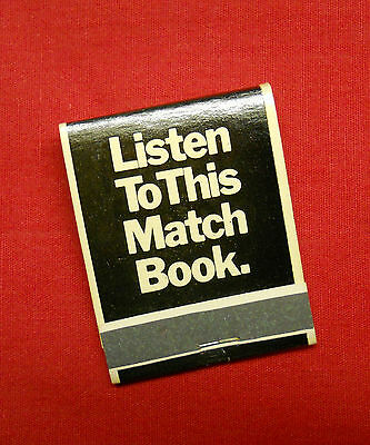 John Lennon 1974 Walls And bridges RARE Listen To This match book Promo Beatles