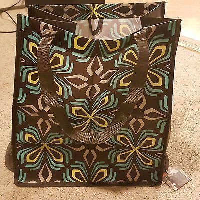 (Set Of 2) Target Classic Tote Folding Reusable  Shopping Bags High Quality New