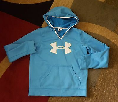Youth Under Armour Large Blue Hoodie with White Logo