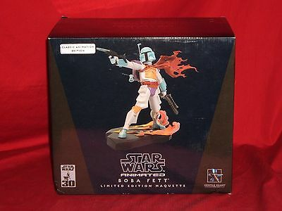 Star Wars Clone Wars Animated Boba Fett Classic Edit. Maquette by Gentle Giant