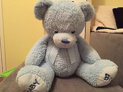Large Baby Boy Teddy In Blue, In Very Good Condition By Keel Toys