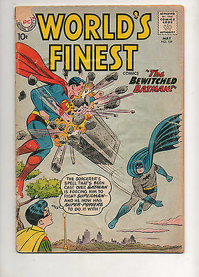 World's Finest #109 BATMAN vs. SUPERMAN ! 1960 VG- 3.5 10c Cover! DC