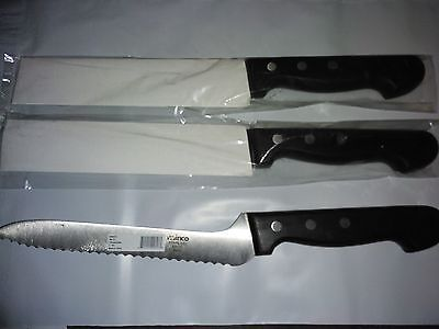 LOT of 3 New WINCO Stainless Steel BREAD KNIVES w/POM Handle FREE SHIPPING
