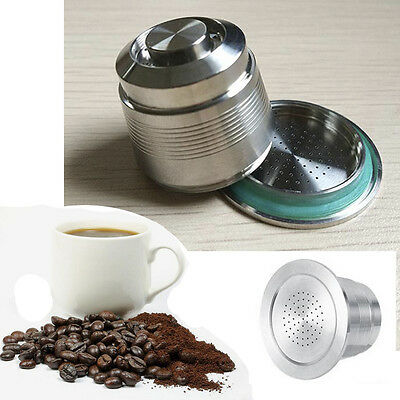 Refillable Coffee Capsule Pod For Nespresso Machine Stainless Steel Fliter Hot J