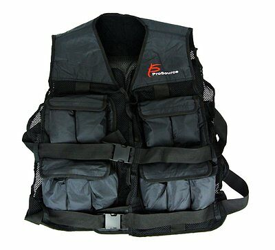 ProSource Adjustable Weighted Vest, 20-Pound/One Size, Black