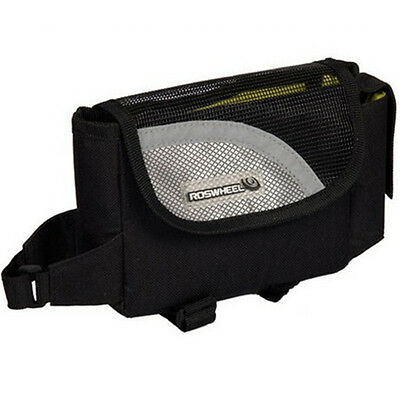 Cycling Frame Bag Front Top Tube Pouch Bag Bicycle Cycling Quick Release Black