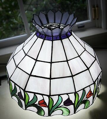 Stained Glass Light - multi panel with flowers