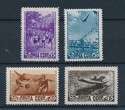 [43970] Russia USSR 1948 Sports Football Diving Speedboat Racing MNH