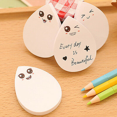 Set Finger expression Sticky Notes Scratch Pad Cute Stationery Sticker Drip