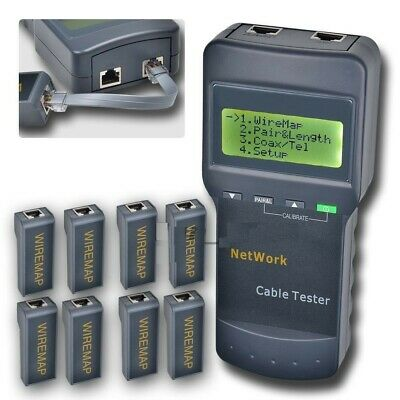 network cable tester meter lan rj45 phone wire cat5 8 far end test sc8108 network cable tester meter cat5 lan phone rj45 mapper 8 far end jack