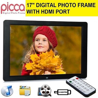 """PICCA 17"""" LED HD 1080P Digital Photo Frame HDMI as Extended Monitor TFT Remote"""