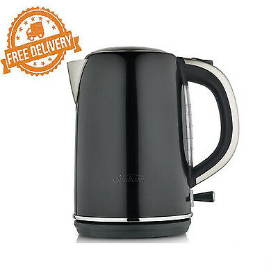 Cordless Electric Kettle Stainless Steel Simply Stylish Sunbeam Kitchen 1.7L Pot