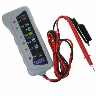 12V Volt Auto Car Battery Alternator Load 6 LED Light Battery Tester Digital AU