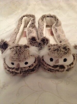 Owl Slippers New Look Size uk small 3-4