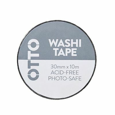 Otto Washi Tape 30mm x 10m Black Stripes