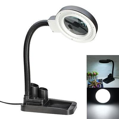 5X 10X Tabletop Magnifier Magnifying Crafts Glass Desk Lamp With – Desk Lamps with Magnifying Glass