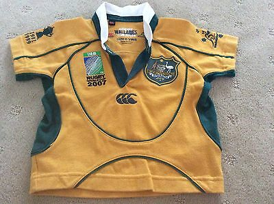 Authentic 2007 Rugby World Cup Wallabies Jersey Size 0