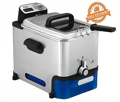Commercial Deep Fryer Electric Stainless Auto Oil Filtration Tefal Oleoclean Pro