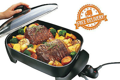 Sunbeam Frypan Cooker Banquet Automatic Electric Controlled Stainless Heat Pan