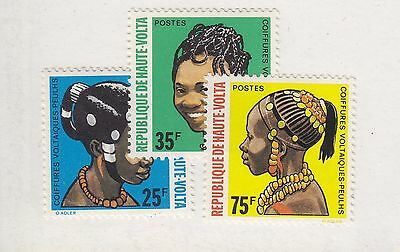 BURKINA FASO MH Scott # 272-274 Hairstyles - remnants (3 Stamps) -1