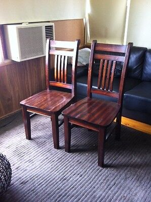 wooden dining room chairs (x6)