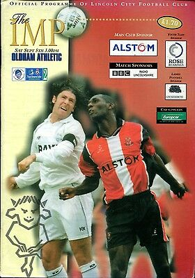 Lincoln City v Oldham Athletic 05/09/98 Division 2