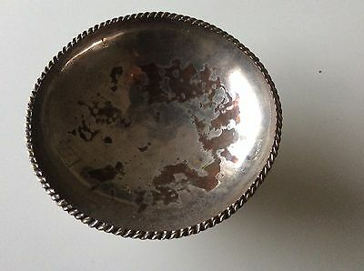 Vintage Silver plated dish With Barley Sugar Rim, Attached Stand