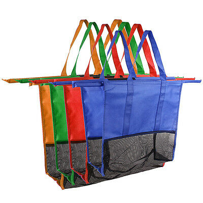 Useful 4pcs/Set Reusable Grocery Cart Shopping Bags Shopping Carrier Bags