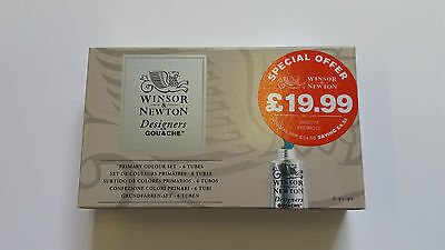Winsor and Newton Designers Gouache Primary Colour Set - Fast Delivery