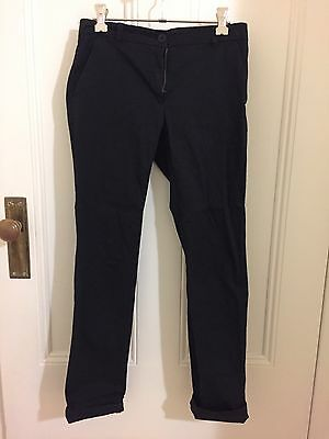 COUNTRY ROAD Black Cotton Drill Pants Size 4