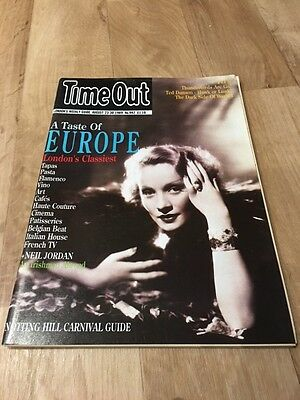 Time Out August 23rd - 30th 1989 A Taste Of Europe / Notting Hill Carnival Guide