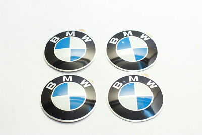 BMW Wheel Center Cap Emblem 64.5mm Set 4 PCS NEW Genuine  36131181080