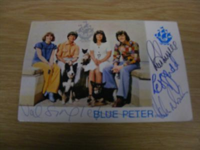 Blue Peter Card Hand Signed By Four 1972 Presenters