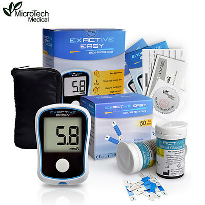 MICROTECH MEDICAL Blood Glucose Diabetics Meter With 50 Strips + 50 Needles