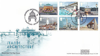 GB 2014  Seaside Architecture - Set of Stamps - FDC with SHS.