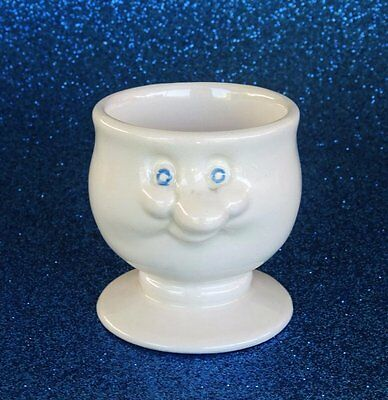 1982 Funny Face Egg Cup *CARLTON WARE - ENGLAND* Ivory White - Lustre Pottery