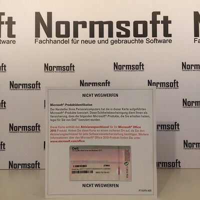 Microsoft Office 2010 Home And Business Pkc Deutsch (Ms Product Key Card) H&b