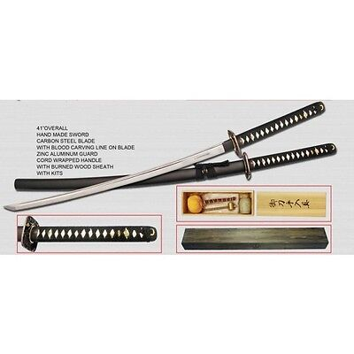 """Defender High Quality 41"""" Collectible Replica Forged Samurai Sword with Gift Woo"""