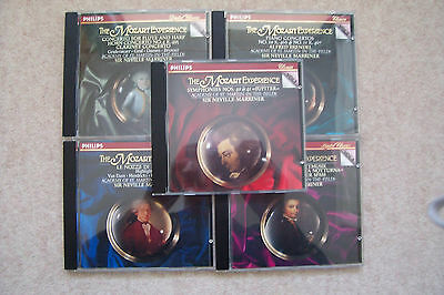 THE MOZART EXPERIENCE - 5 CD's. SIR NEVILLE MARRINER