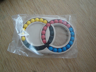 HUNGARIAN DOUBLE RINGS - Vintage Retro Puzzle  80s Brain Teaser game bag pack.