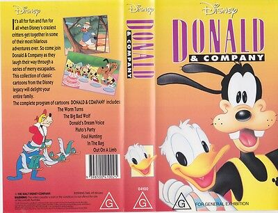 Donald And Company Disney Vhs Video Pal~A Rare Find~