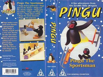 Pingu The Sportsman   Vhs Video Pal~ A Rare Find